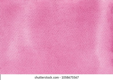 Pink natural handmade aquarelle watercolours paint texture pattern background, horizontal textured watercolor paper painting macro closeup, painted copy space