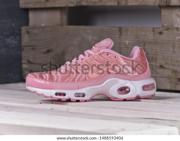 Pink Nike Air Max Plus Tn Stock Photo