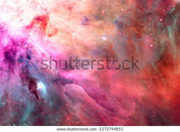 pink orange colorenchanced orion nebula 600w 1272794851