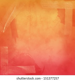 Pink and orange grunge background with tape