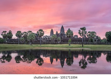 The pink, orange, purple sky that morning over the Ankor Wat temple was absolutely unreal. Best sunrise to date.