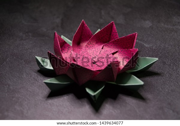 Pink Origami Lotus Flower Paper Art Stock Photo Edit Now 1439634077