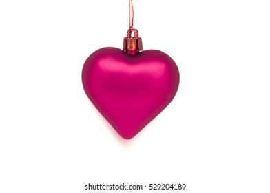 Pink ornament with bronze string
