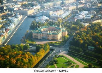 Pink palace - Saint Petersburg - aerial view [#4919]