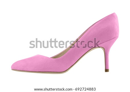 04cd22b1f9 Pink Pale Suede Spike High Heels Stock Photo (Edit Now) 692724883 ...