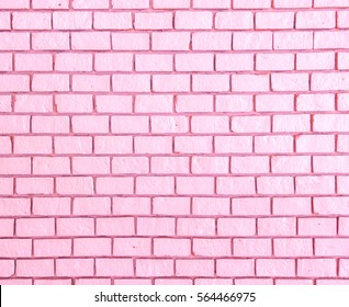 pink pastel brick wall. background for valentine