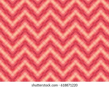 Pink and peach color zig zag tile design