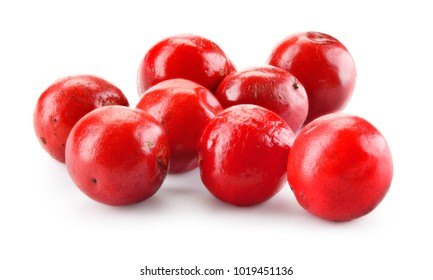 Pink pepper. Red peppercorns isolated on white. Macro. Full depth of field..