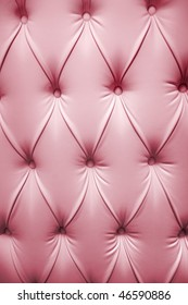 Pink picture of genuine leather upholstery