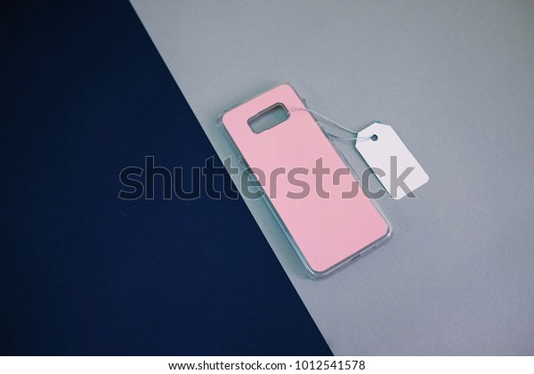 Pink Plastic Cover Mobile Phone Price Stock Photo (Edit Now