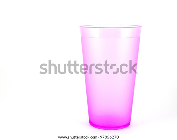pink-plastic-cup-over-white-600w-9785627