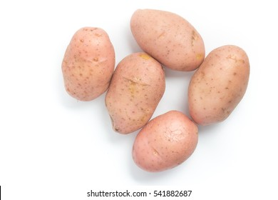 Pink Potato. Asterix isolated on white background