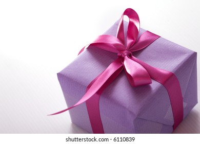 pink presents with ribbon