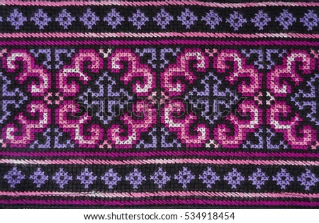 Pink Purple Handmade Thai Traditional Hmong Stock Photo Edit Now