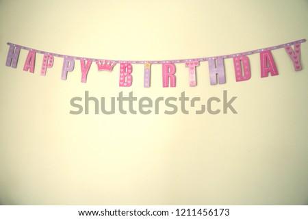 pink purple happy birthday banner background stock photo edit now