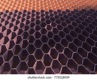 Pink and Purple Honeycomb pattern.Hexagon pattern.