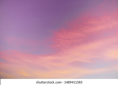 A pink and purple sunset