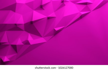 Pink purple triangular textured lowpoly background