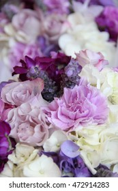 Pink, Purple and White Wedding Bouquet