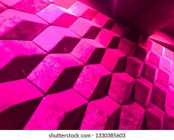 Pink qube wall