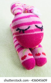 Pink Rabbit handmade doll