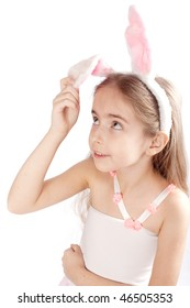 Pink rabbit-girl