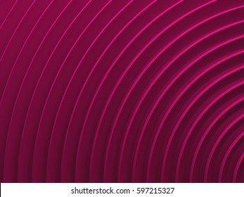 Pink radial abstract background for graphic design, book cover template, website design, application design. 3D illustration