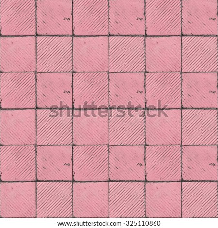Pink Ribbed Tile On Floor Wall Stock Photo Edit Now 325110860