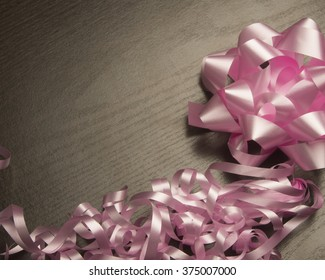 Pink ribbon and bow/Ribbon and bow/Ribbon and bow for gifts