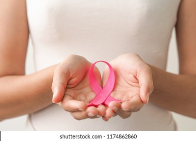 Pink Ribbon Breast Cancer Awareness Concept