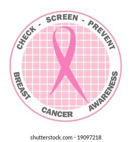 Pink ribbon design for Breast Cancer Awareness