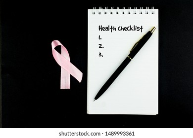 Pink ribbon health concept . with pink ribbon