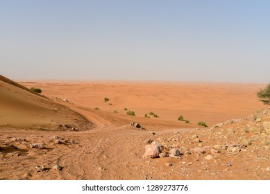 Pink Rock, Sharjah desert area, one of the most visited places for Off-roading, dune bashing and adventure by off roaders