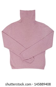 Pink roll-neck sweater