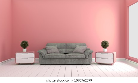 Living Room Interior Sofa Carpet Plants Stock Illustration 598722674 ...