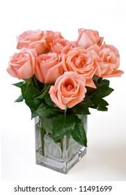 Pink Rose Flower in a Vase