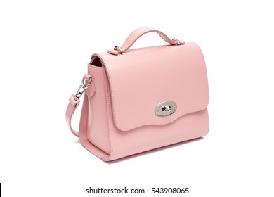 pink rose little small purse handbag fashion isolated on white background
