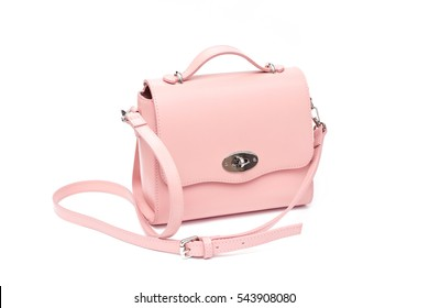 pink rose little small purse handbag shoulder bag fashion isolated on white background