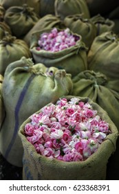 Pink Rose Petals in Sacks