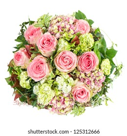 pink roses. beautiful flowers bouquet isolated on white background