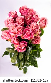 Pink roses in a bouquet