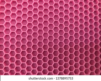 Pink rubber antislip pad for flooring on the smooth floor to protect child or elder from slip down