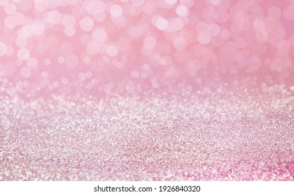 Pink sand abstract bokeh blur background, Sparkling luxury wallpaper.