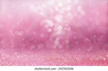 Pink sand and purple bokeh blur background, Abstract sparkling luxury wallpaper.