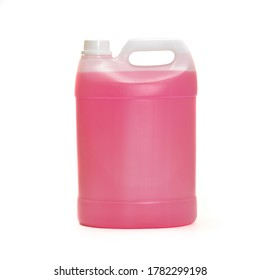 Pink Sanitizer five liter can without label