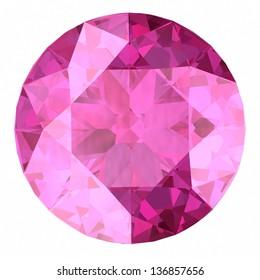 Pink sapphire.