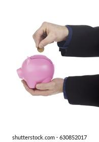 Pink savings bank