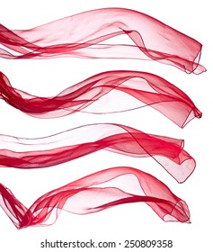 pink scarf isolated on a white background