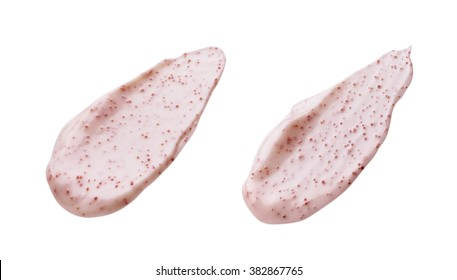 Pink Scrub Sample Isolated on White Background