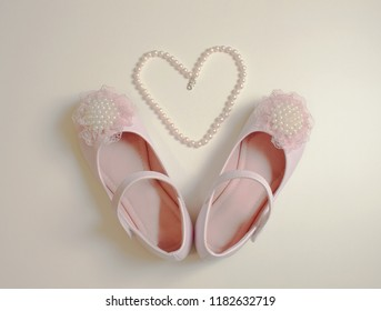 Pink shoes with heart